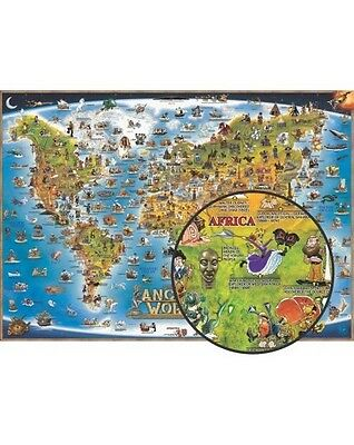 Ancient World Map Poster For Kids - World Wall Map