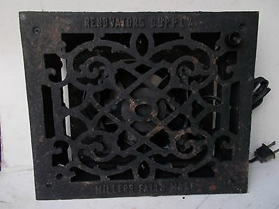Used-RENDVATORS SUPPLY CAST IRON FURNACE REGISTER GRATE VENT WORKS GRATE W/ Fan