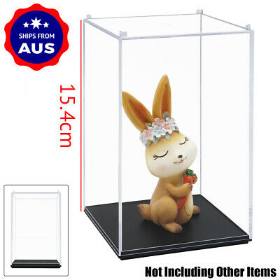 AU 16cm H Acrylic Clear Display Case Perspex Box Plastic Dustproof Collection UV