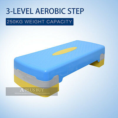 New Home Fitness Sports Exercise Training Stepper Aerobic Step 3 Level 68cm S