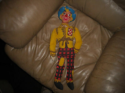 """23"""" Checkerboard Squarecrow doll, Chex cereal mail-in toy 1965 Ralston Purina"""