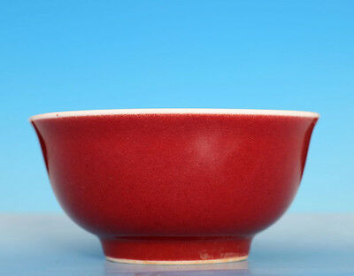 Exquisite Old Chinese Red Glaze Porcelain Bowl Marked XuanDe WJ735