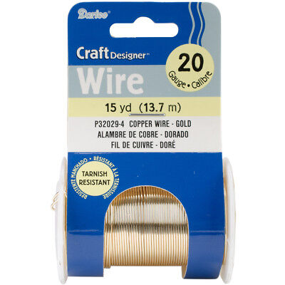 Beading Wire 20 Gauge 15yd-Gold Colored Copper Wire