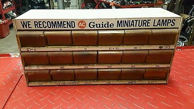 Vintage AC Guide Miniature Lamps Garage Bulb Storage Display
