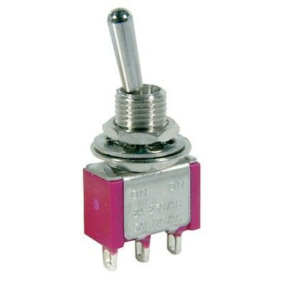 SPDT Miniature Toggle Switch Solder Tag ST0336 250VAC 2A 120VAC 5A On-Off-On