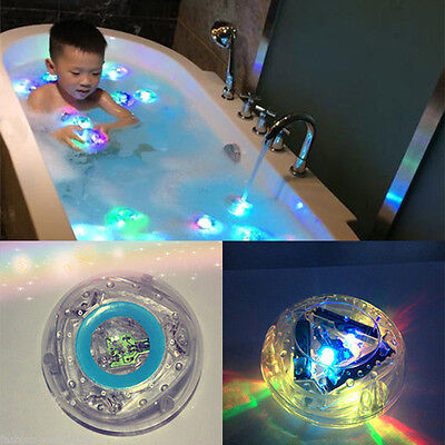 US Bathroom LED Flash Light Toy Kid Color Changing Waterproof In Tub Bath Time