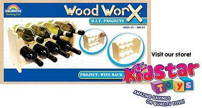Wood Worx Adult D.I.Y. Kit Wine Rack wooden construction building - pack of 2