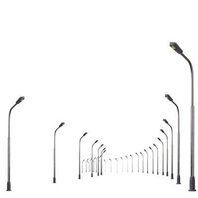 10 pcs Model Railway Train Railroad Diorama LED Lamp Post Street Lights Z 3V