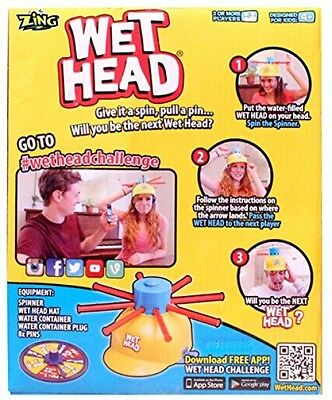Hot Wet Head Water Roulette Game Kids Toy BRAND NEW FREE Shipping UK