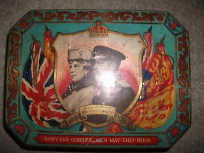 King George vi & Queen Mary Silver Jubilee Vintage Tin