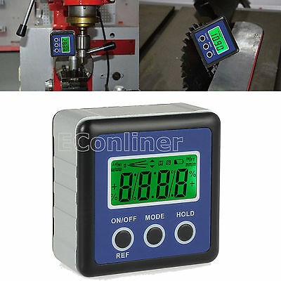 Digital LCD Level Box Angle Gauge Protractor Inclinometer Bevel Box 0-360° IP54