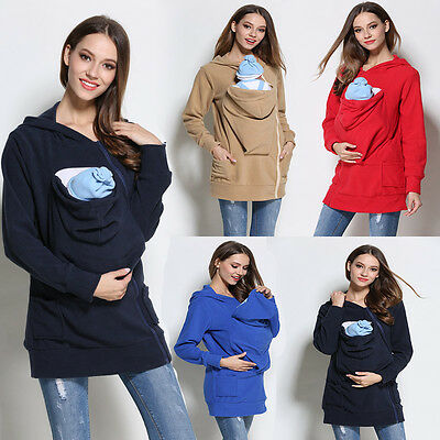 Baby Carrier Jacket Kangaroo Warm Maternity Outerwear Coat for Pregnant Womens