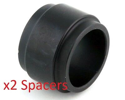 2 Black 25mm x 25mm Alloy Wheel Spacers Prokart Cadet  UK KART STORE