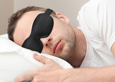 PLEMO Sleep Eye Mask Ultra-Soft Silky Contoured Lightweight Breathe-Easy Black