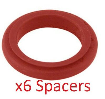 6 Red 17mm x 20mm Alloy Wheel Spacers Prokart Cadet UK KART STORE