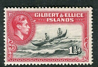 GILBERT ELLICE ISLANDS;  1938 early GVI issue Mint hinged 1.5d. value