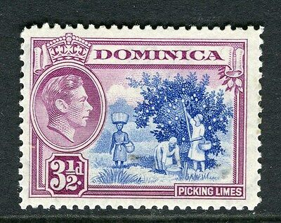 DOMINICA;  1938 early GVI issue Mint hinged 3.5d. value