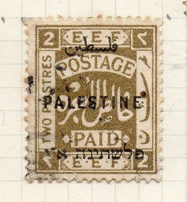 Palestine 1921 Early Issue Fine Used 2m. Optd 076034
