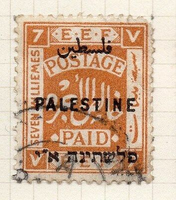Palestine 1921 Early Issue Fine Used 7m. Optd 076030