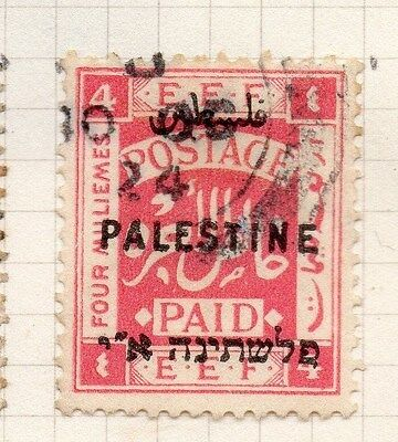 Palestine 1921 Early Issue Fine Used 4m. Optd 076027