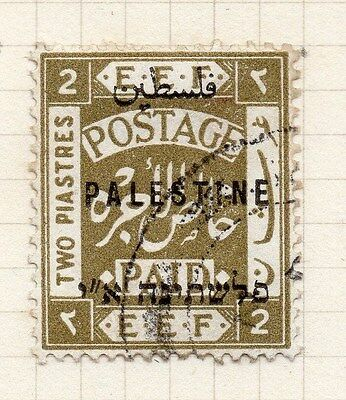 Palestine 1921 Early Issue Fine Used 2m. Optd 076012