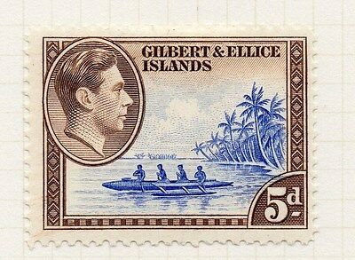 Gilbert & Ellice Islands 1939-55 Early Issue Fine Mint Hinged 5d. 076065