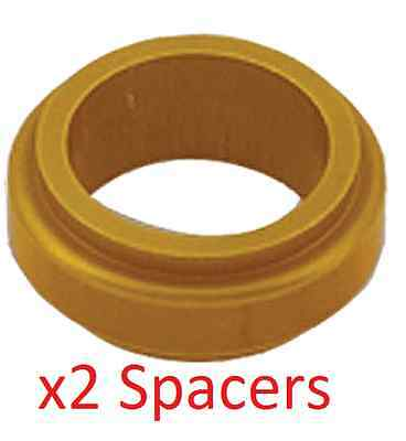 2 Gold 17mm x 20mm Alloy Wheel Spacers Prokart Cadet  UK KART STORE