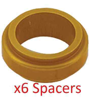 6 Gold 17mm x 20mm Alloy Wheel Spacers Prokart Cadet  UK KART STORE