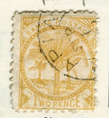 SAMOA;  1890s early classic Palm Tree issue fine used 2d. value