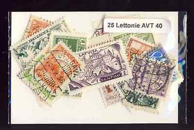 Lettonie avant 1940 - Latvia before 1940 25 timbres différents