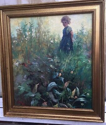 1960s Italian impressionist oil painting of young girl signed A.Rossi .??
