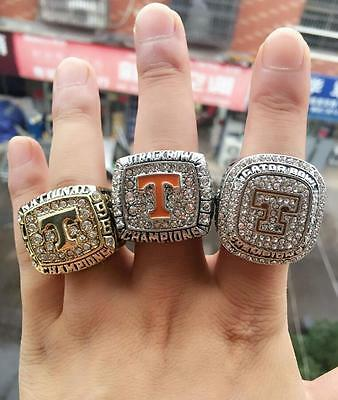 1998 2008 2015 Tennessee Volunteers Football Nation Championship Ring 3 together