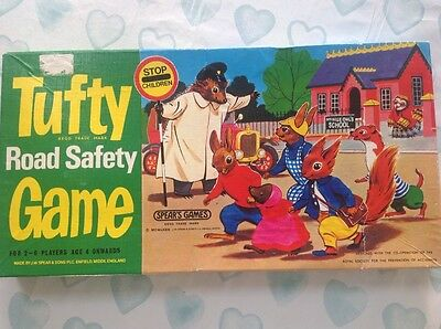 Vintage Tufty Road Safety Game Board Game Boxed-By Spears