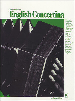 Handbook for English Concertina Tutor Sheet Music Book Method Learn How To Play