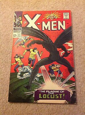 The X-Men #24 - 1St Appearance Of The Locust - A High Grade Vf Silver Age Book