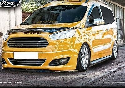 FORD Courier Bonnet Protector Bug Guard Solid Black 2014-2019
