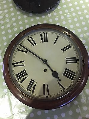 Antique Wall Clock. . School/Railway Wind Up 7/8 day fully serviced.