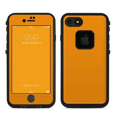Skin for LifeProof FRE iPhone 7 - Solid Orange - Sticker Decal
