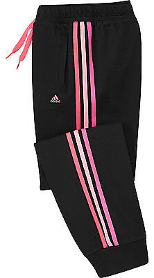 Size 14/15 Years Xs - Adidas Performance Essential Cuffed Jog Pants  - Black