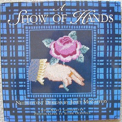 A SHOW OF HANDS 20+ Colour Illustrated Needlepoint Patterns Janet McCafffery