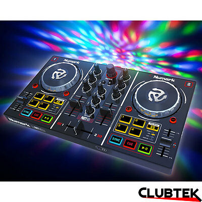 Numark Party Mix DJ Controller, Built-In Light Show Serato DJ Lite/Virtual DJ LE