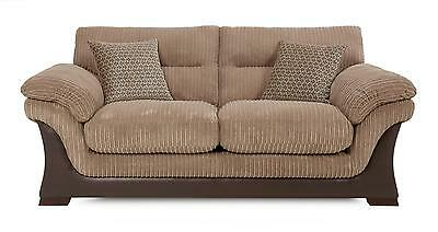 DFS Leyburn Nutmeg Brown Fabric Large 2 Seater Sofa Bed