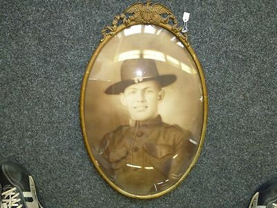 US Army WWI, framed picture, 55cm high, guaranteed original