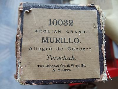 Aeolian Grand 58 note player organ roll 10032 Murillo Allegro de Cncert