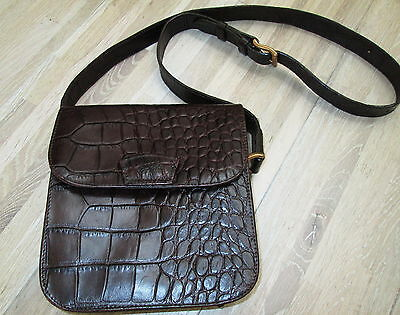 Authentic Vintage Mulberry Brown Reptile Congo Leather Shoulder Hand Bag