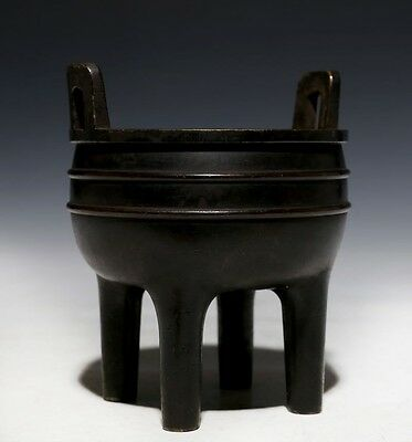 Very Rare Old Chinese Bronze Incence Burner Censer Marked XuanDe NE988
