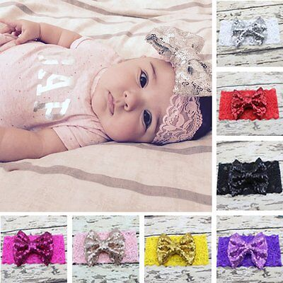 Kids Girl Baby Headband Toddler Lace Bow Flower Hair Band Accessories Headwear