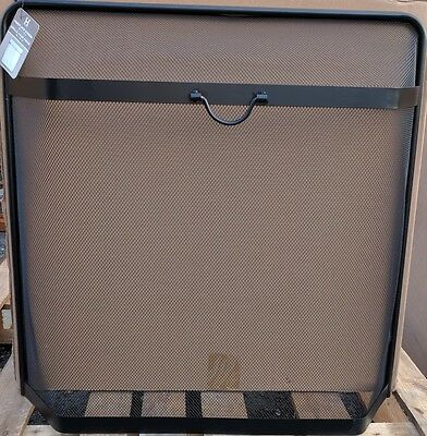 Large Robust Spark Guard Fire Screen Black Steel Mesh