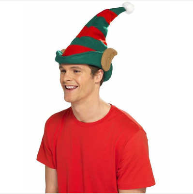 Christmas Striped Elf Hat with Ears Pk 1
