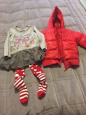 Boboli Outfit With Matching Coat Age 4